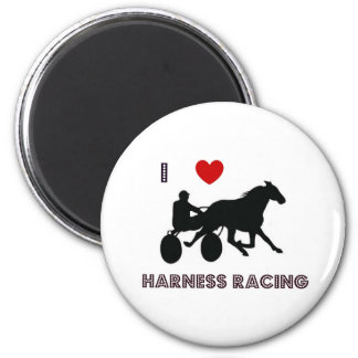 I Love Harness Racing Magnets