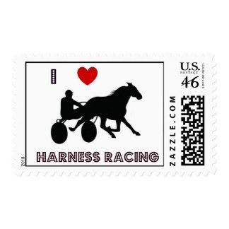 I Love Harness Racing Stamp