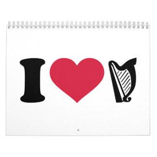 I love harp calendar