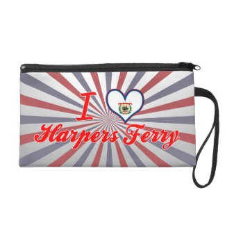I Love Harpers+Ferry, West Virginia Wristlet Purses