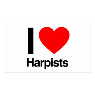 i love harpists business cards