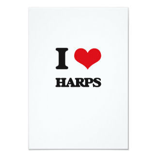 I love Harps 3.5x5 Paper Invitation Card