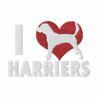 I Love Harriers Embroidered Long Sleeve T-Shirt
