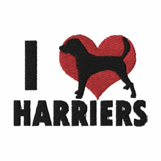 I Love Harriers Embroidered T-Shirt
