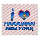 I love Harriman, New York Print