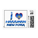 I love Harriman, New York Stamp