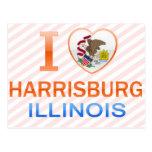 I Love Harrisburg, IL Postcard
