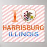 I Love Harrisburg, IL Poster