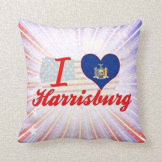 I Love Harrisburg, New York Throw Pillow
