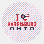 I love Harrisburg, Ohio Round Sticker