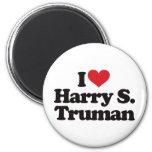 I Love Harry S Truman 2 Inch Round Magnet