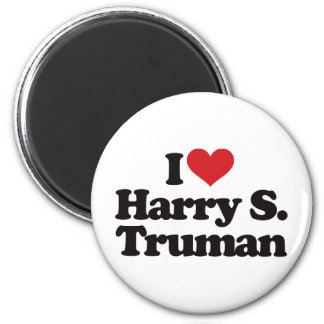I Love Harry S Truman 2 Inch Round Magnet
