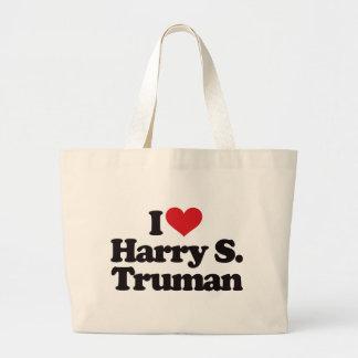 I Love Harry S Truman Jumbo Tote Bag
