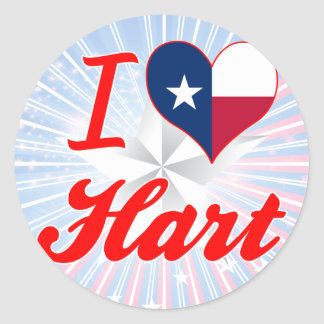 I Love Hart, Texas Stickers