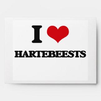 I love Hartebeests Envelopes