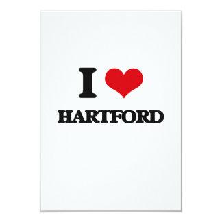 I love Hartford 3.5x5 Paper Invitation Card
