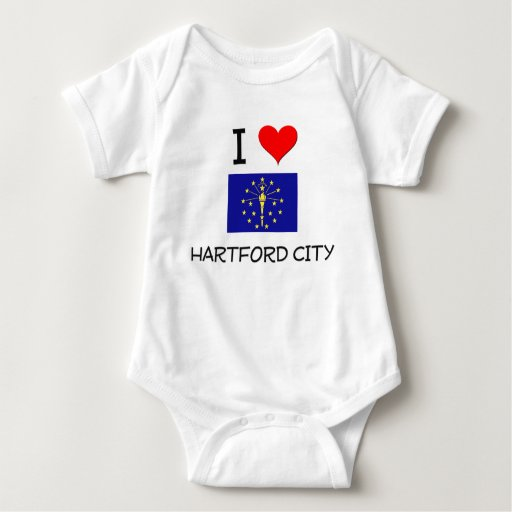 I Love HARTFORD CITY Indiana Shirts