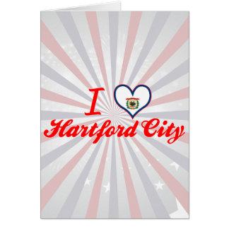 I Love Hartford+City, West Virginia Greeting Card