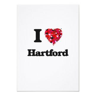 I love Hartford Connecticut 5x7 Paper Invitation Card