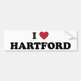 I Love Hartford Connecticut Bumper Sticker