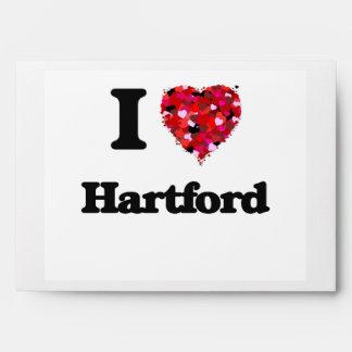 I love Hartford Connecticut Envelope