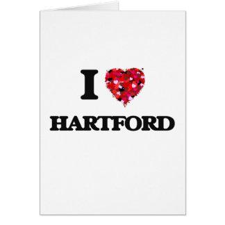 I love Hartford Connecticut Greeting Card