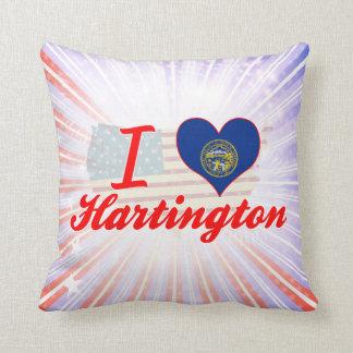 I Love Hartington, Nebraska Throw Pillows