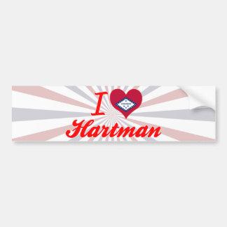 I Love Hartman, Arkansas Car Bumper Sticker
