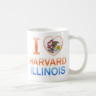 I Love Harvard, IL Coffee Mug