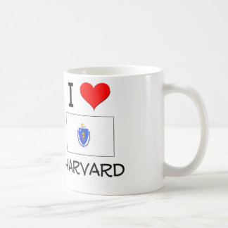 I Love Harvard Massachusetts Classic White Coffee Mug