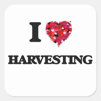 I love Harvesting Square Sticker