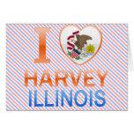I Love Harvey, IL Greeting Card