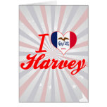 I Love Harvey, Iowa Greeting Card