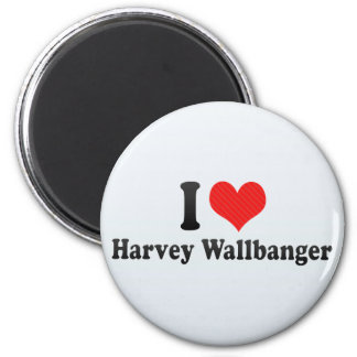 I Love Harvey Wallbanger 2 Inch Round Magnet