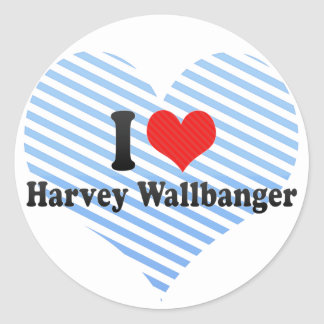 I Love Harvey Wallbanger Classic Round Sticker