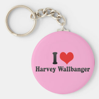 I Love Harvey Wallbanger Basic Round Button Keychain