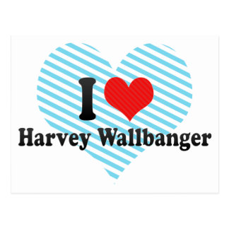 I Love Harvey Wallbanger Postcard