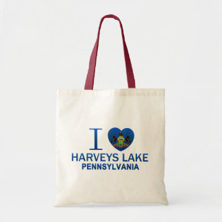 I Love Harveys Lake, PA Tote Bag