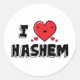 I Love Hashem Classic Round Sticker