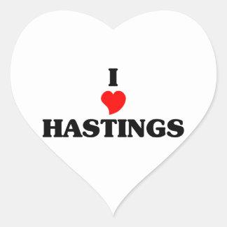 I love Hastings Heart Sticker