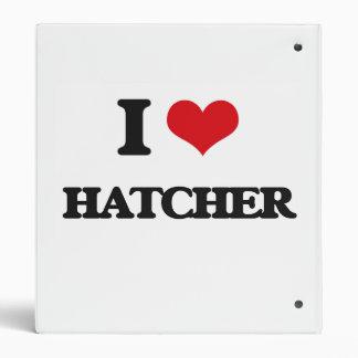 I Love Hatcher 3 Ring Binders