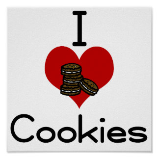 I love-hate Cookies Posters