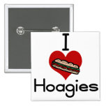 I love-hate hoagies 2 inch square button
