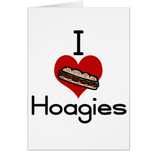 I love-hate hoagies greeting card