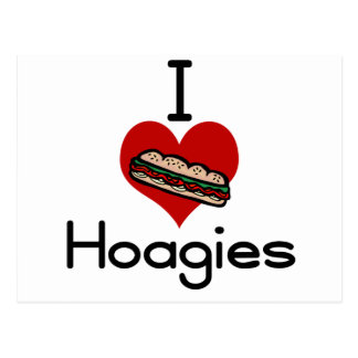 I love-hate hoagies postcard