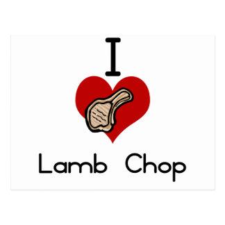 I love-hate lambchop postcard