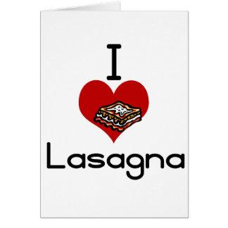 I love-hate lasagna card