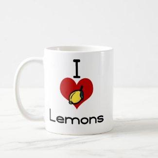 I love-hate lemons mug