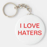 I LOVE HATER KEY CHAIN RED
