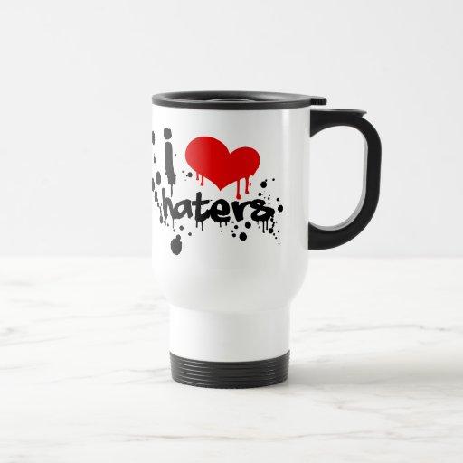I Love Haters 15 Oz Stainless Steel Travel Mug